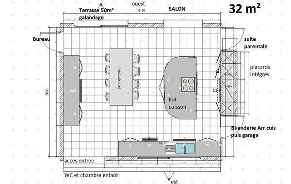 Plan cuisine for Cuisine 11m2